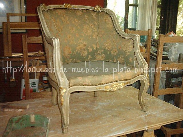 Restauración sillón de estilo