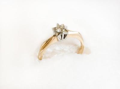 vintage gold and diamond engagement ring