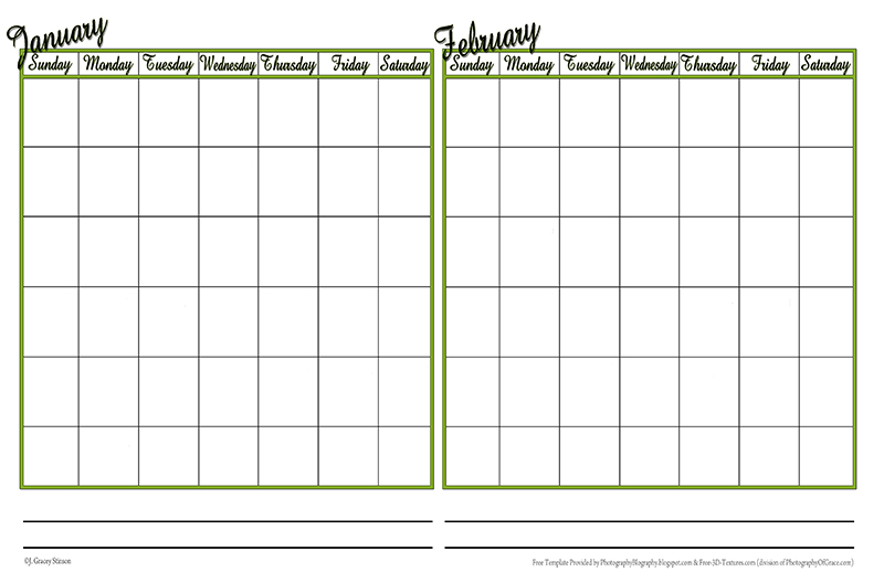 double month calendar template - photography blography even more calendar templates