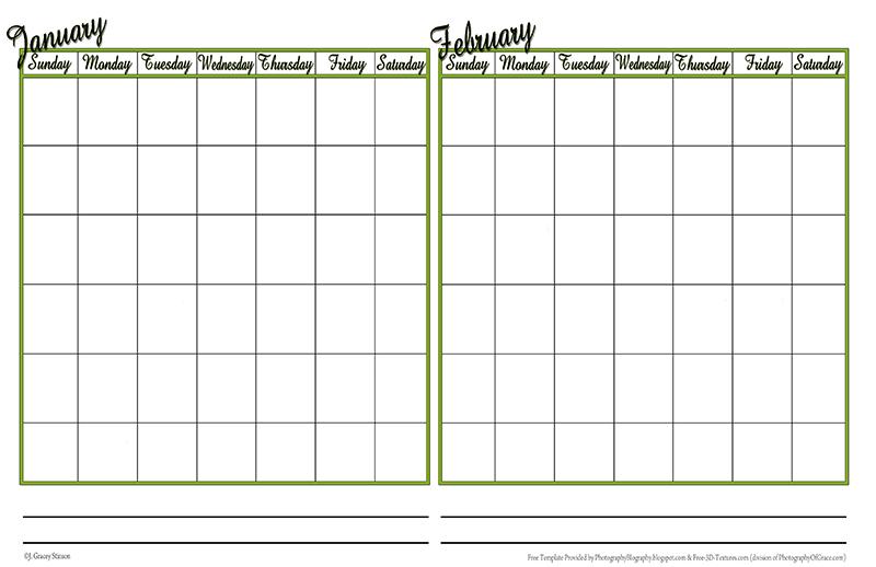 Photography Blography Even More Calendar Templates