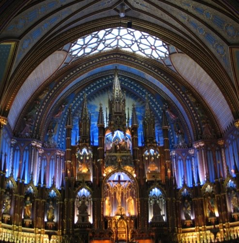 Notre Dame Basilica Montreal: Notre-Dame Basilica Of Montreal Celebrates Christmas And Light