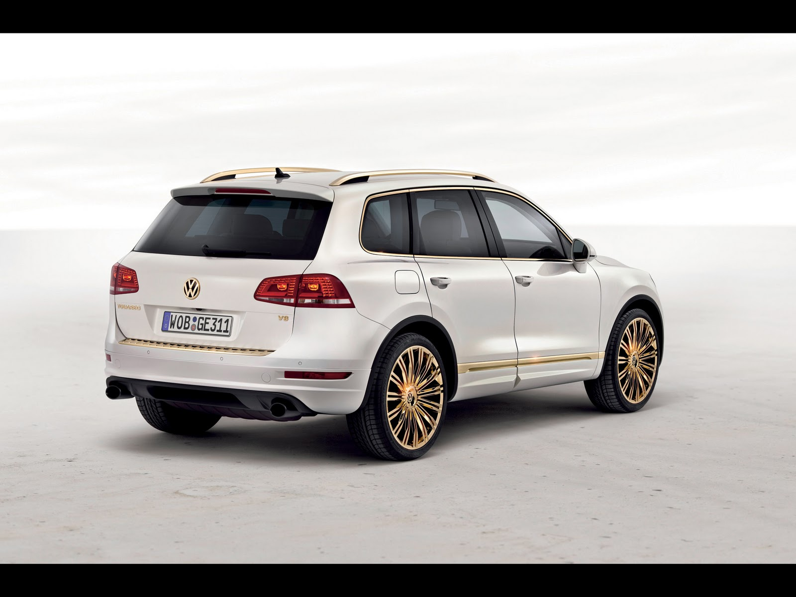 Pintures M Vich Cars Hd Wallpapers 2011 Volkswagen Touareg Gold Edition