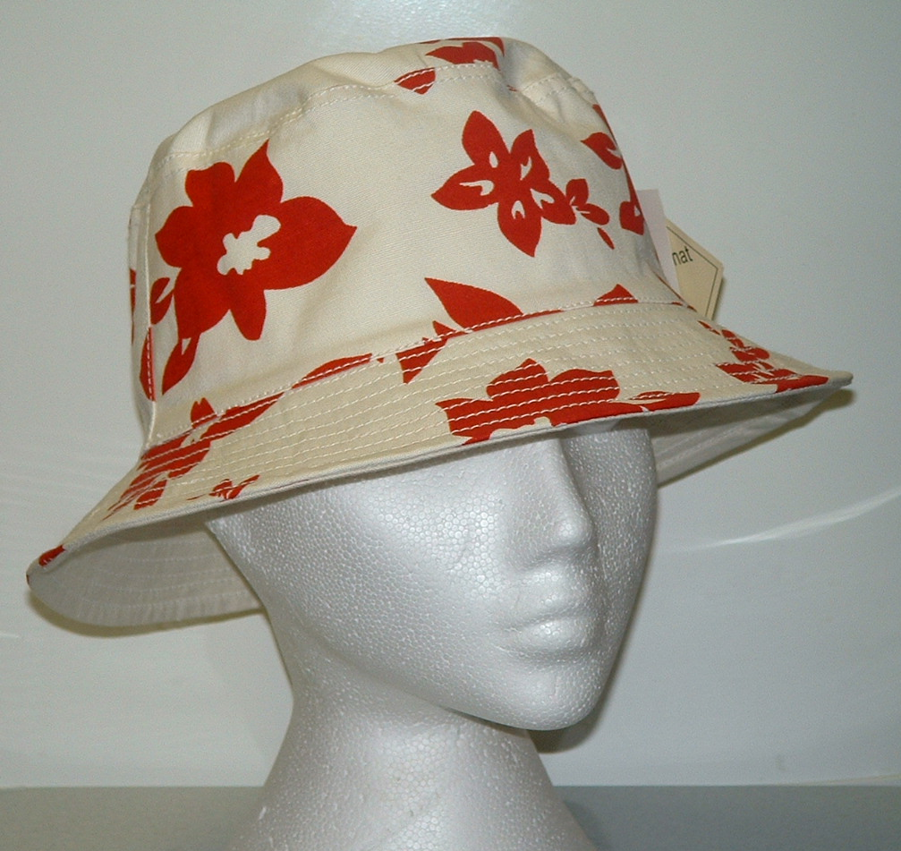 01377d0cf0f Get set for Summer 2011 with this groovy unisex Red and White patterned  Reversible Bucket Hat
