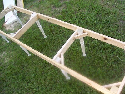 Frame Of DIY Outdoor Bench