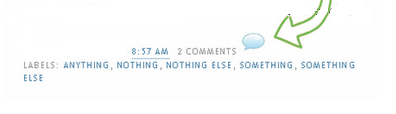 Comment Icon Beside The Comment Link