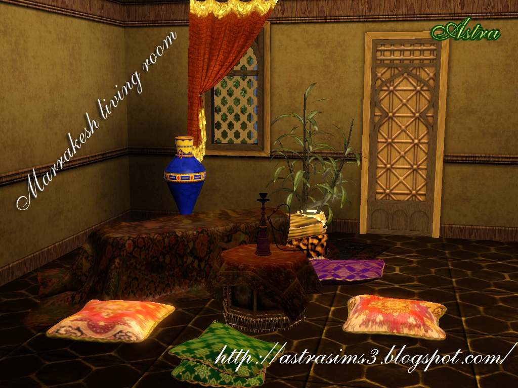 AstraSims3-everything for your Sims3: Marrakesh living room