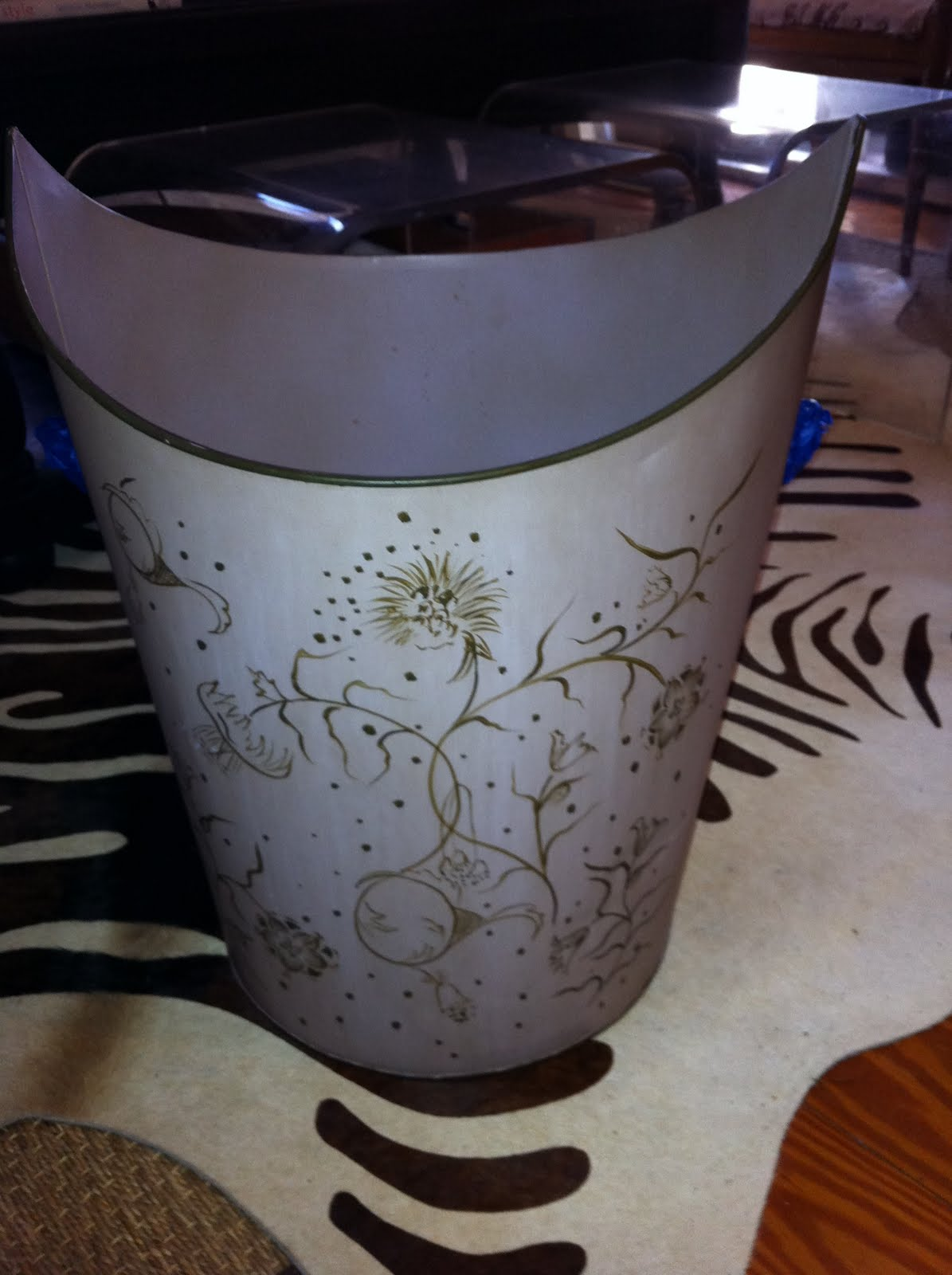 Before & After: Tole Trashcan