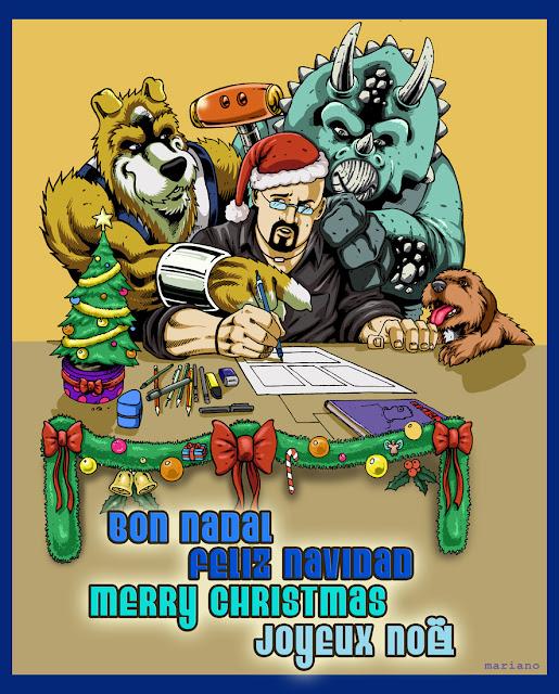 Fotos De Hombres Felicitando La Navidad.El Show De Los Hombres Lobo Felicitaciones De Navidad