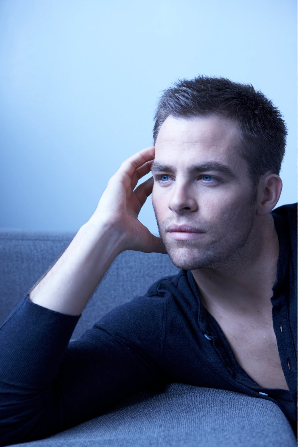 Chris Pine On The Set Of One Day She Ll Darken: Lookin Like A Superstar.: Chris Pine By Cliff Watts