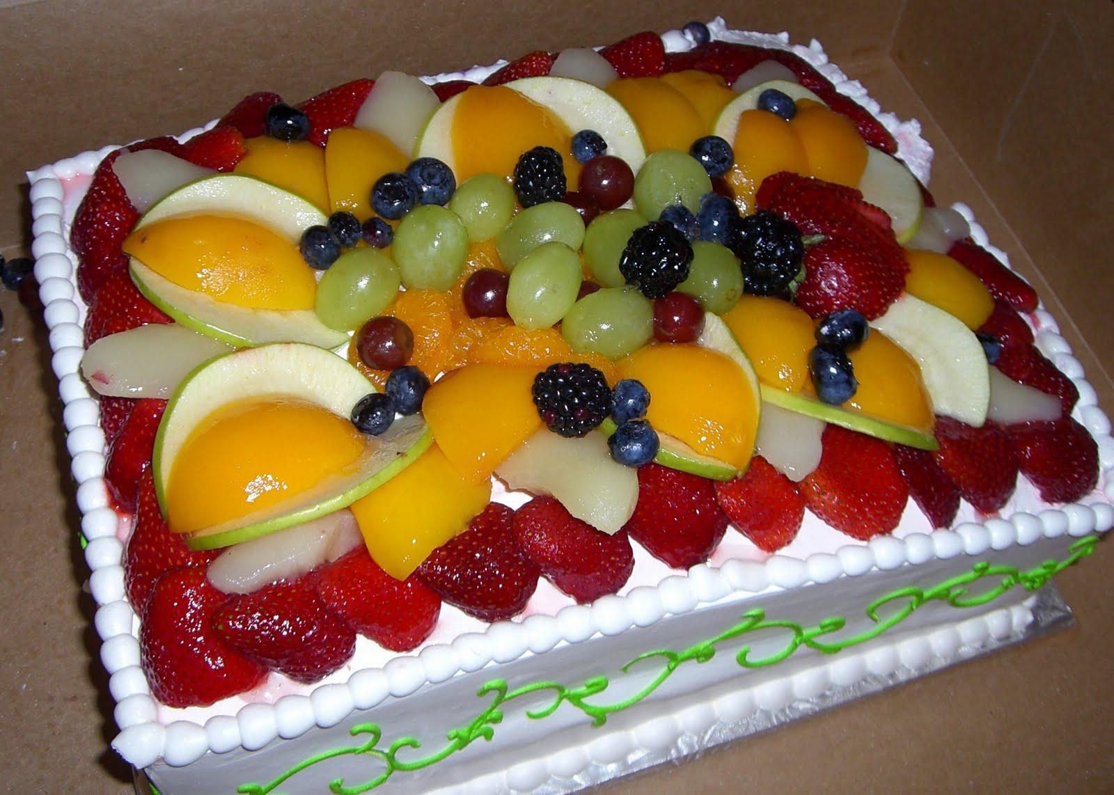 all fruit birthday cake - photo #44