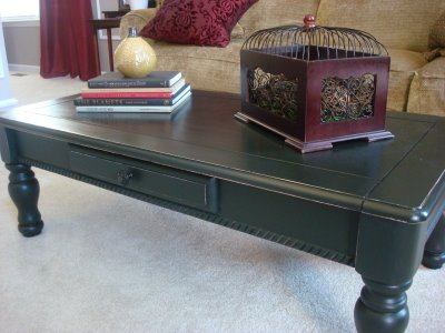 painting Goodwill coffee table
