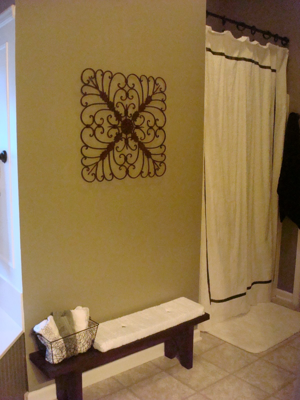 DIY shower curtain