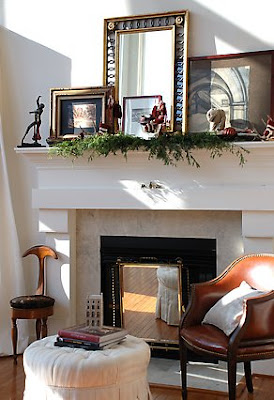 Thrifty Decor Chick: How to decorate your mantel.