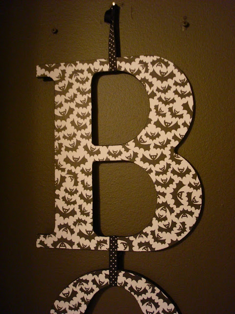 Cover chipboard letters with craft paper