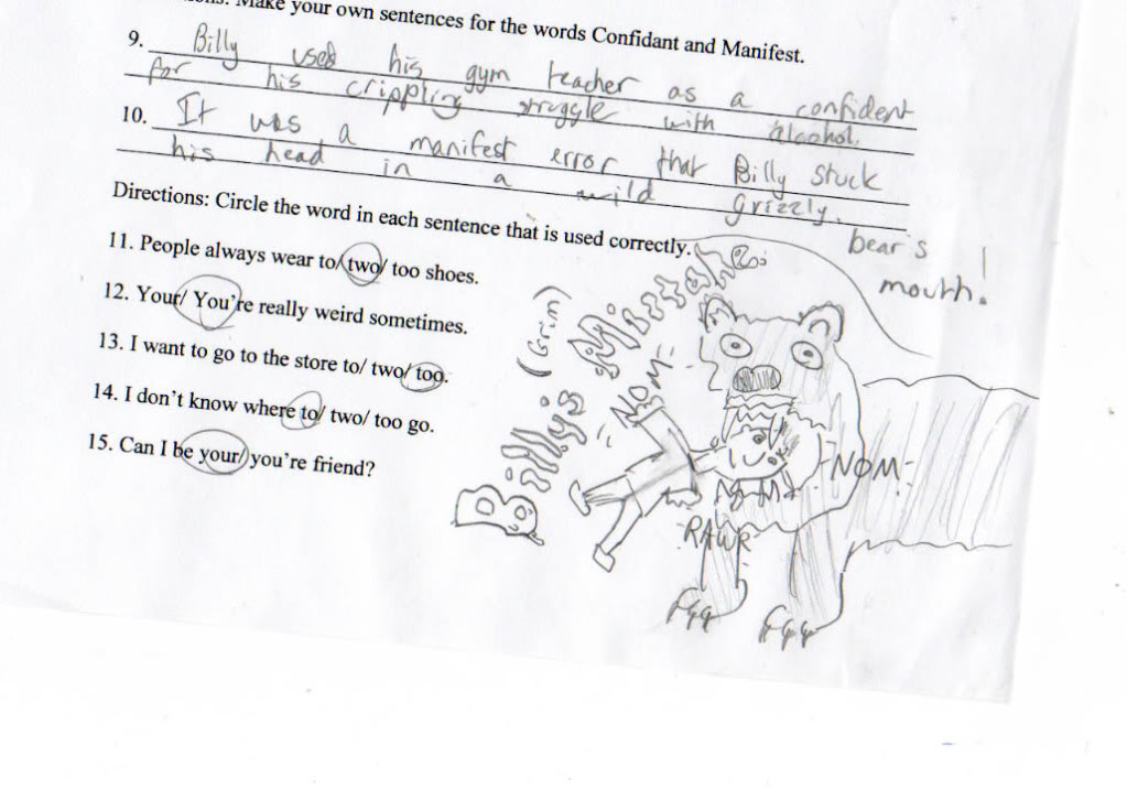 Mighty Lists: 13 funny homework answers