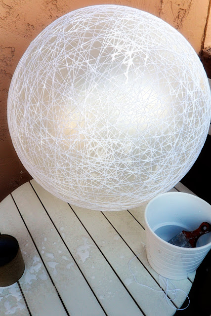 DIY String Pendant Lamp | Desert Domicile