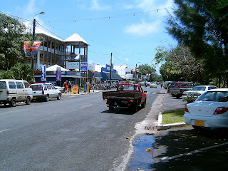Main street in capital