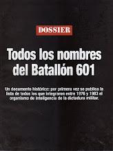 Bajate la Lista de agentes del Batallón 601 de la dictadura genocida cívico militar