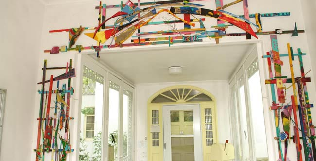 Take A Look At The Children S Artwork Adorns Entrance To Overfield Early Childhood Program