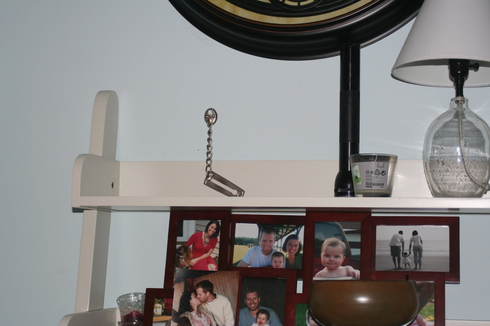My Dad Bought A Chain Lock And Ed It Into Pb Shelf Then Stud In The Wall What I About Had Cow