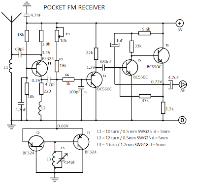 THE RADIO BUILDER: FM Receiver_Superhet_6T_No audio amplifier