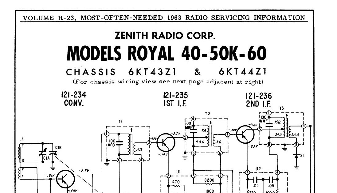 THE RADIO BUILDER: Zenith_Superhet_6T_2 IF Transformers