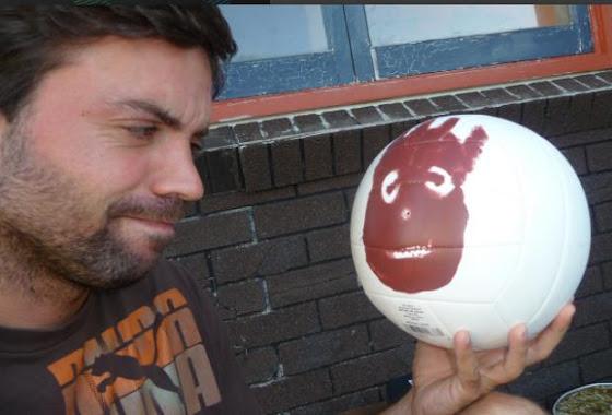 Aquí estoy yo hablando con Wilson