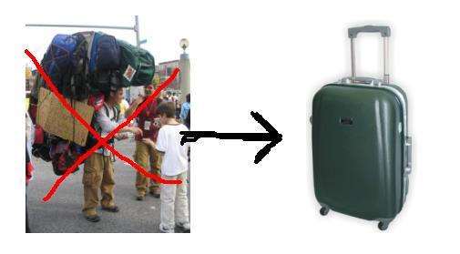 Aquí es el país donde hay que llevar valija