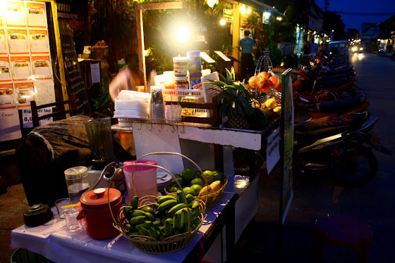 Ventas callejeras en Luang Prabang