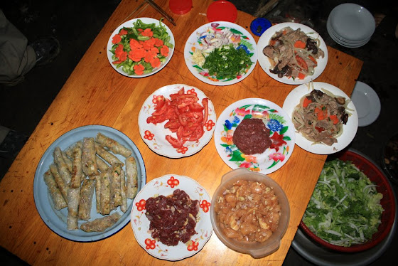 Los platos de comida