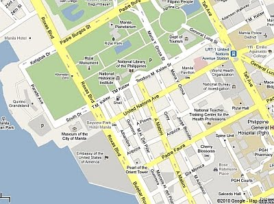 Us Embassy Manila Map Backpacking Philippines: How to Get to US Embassy Manila: Map