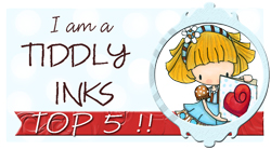 Top 5 at Tiddly Inks Challenge Blog