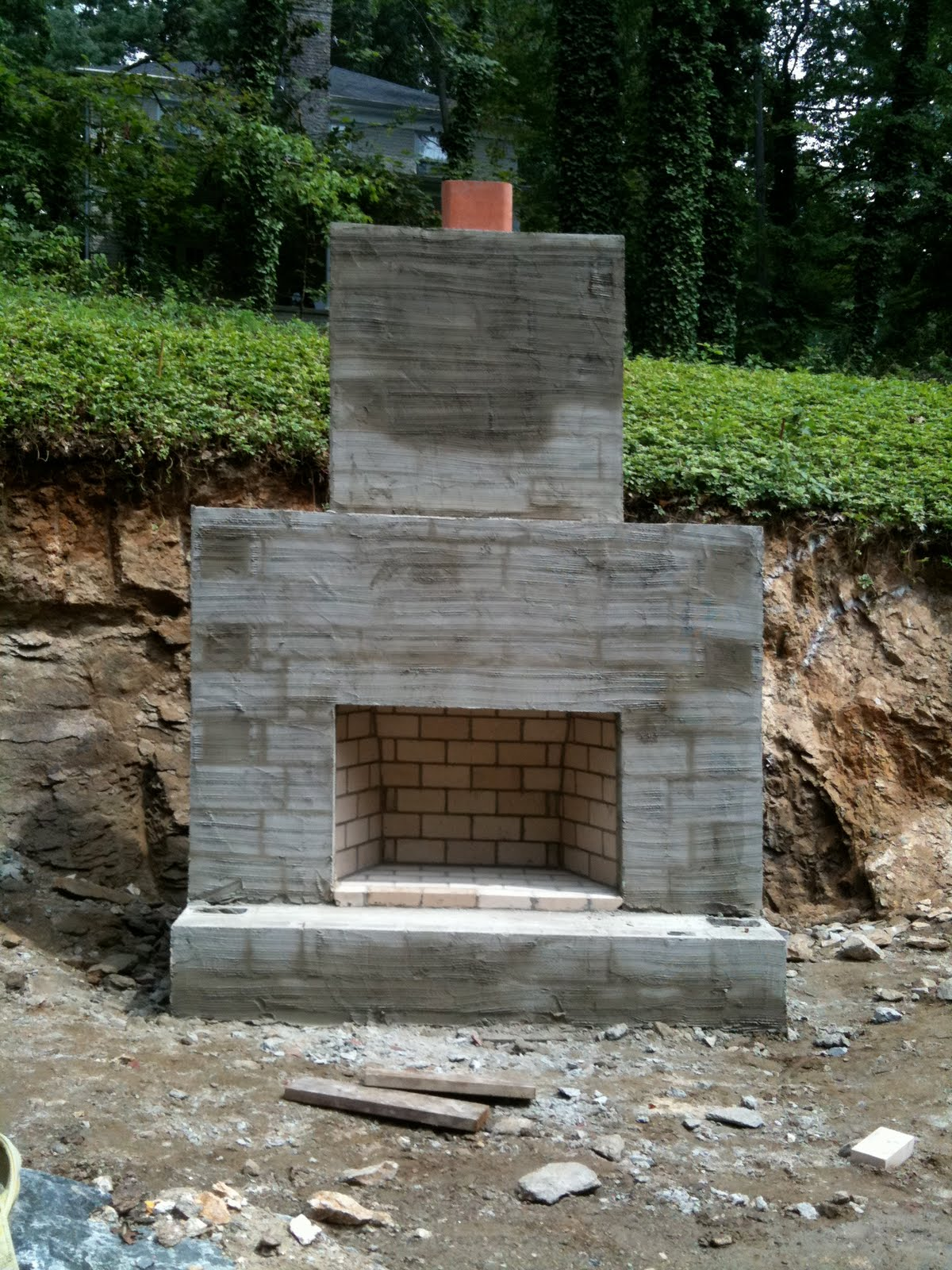 Keenan Construction & Excavation: Outdoor Fireplace on Outdoor Fireplace With Cinder Blocks id=92924