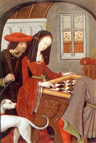 François and Marguerite d'Angoulesme playing checkers