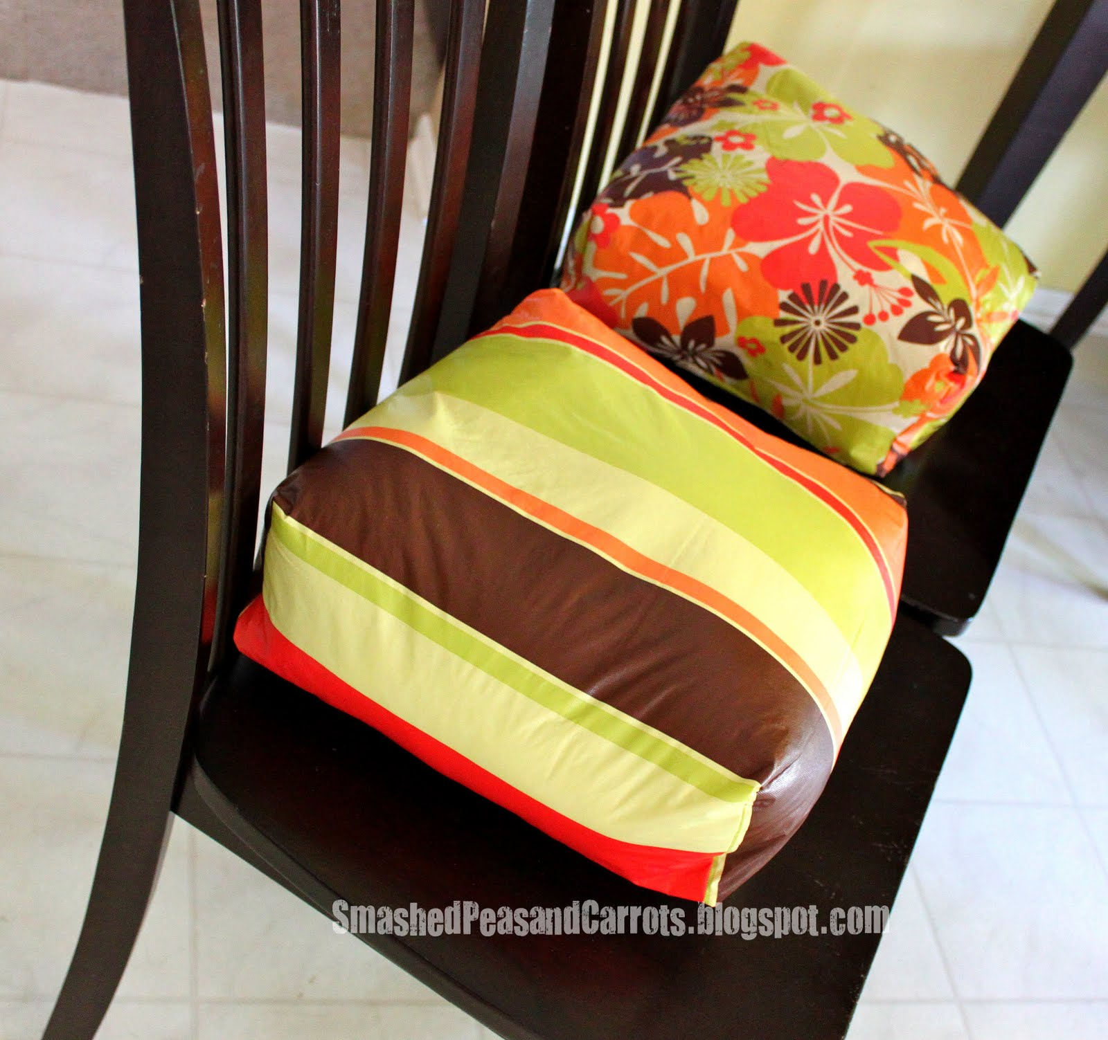 Diy Chair Cushions Booster Seat Cushions Tutorial Smashed Peas And Carrots