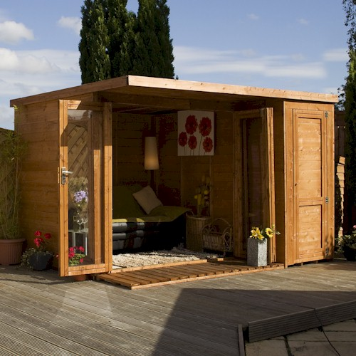 Shedworking garden office storage shed 2010 39 s main for Flat pack garden room