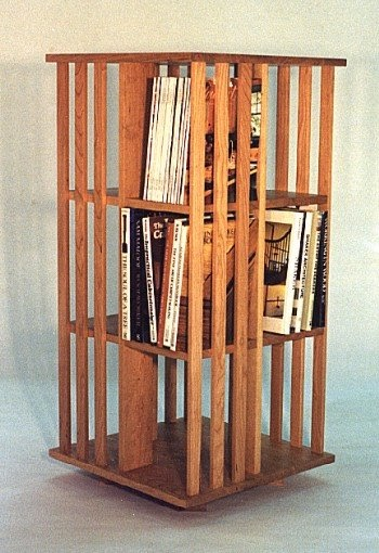 revolving chair thames dark table with white chairs bookshelf: mission inspired bookcase