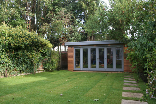 Shedworking garden office and recreation room for Garden room builders