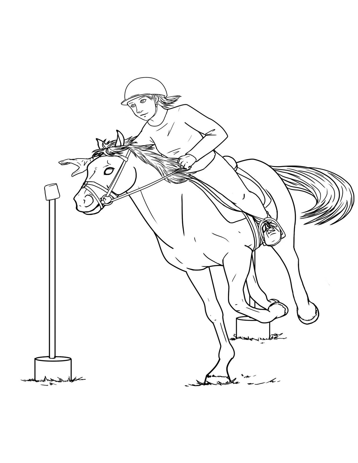 Laura Ambrosiano: Pony Club Coloring Book