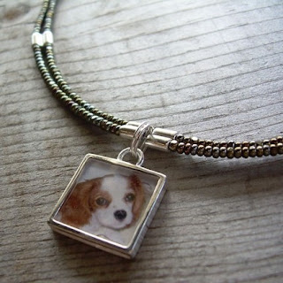 sterling silver square photo pendant