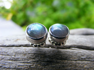 labradorite cabochons post earrings