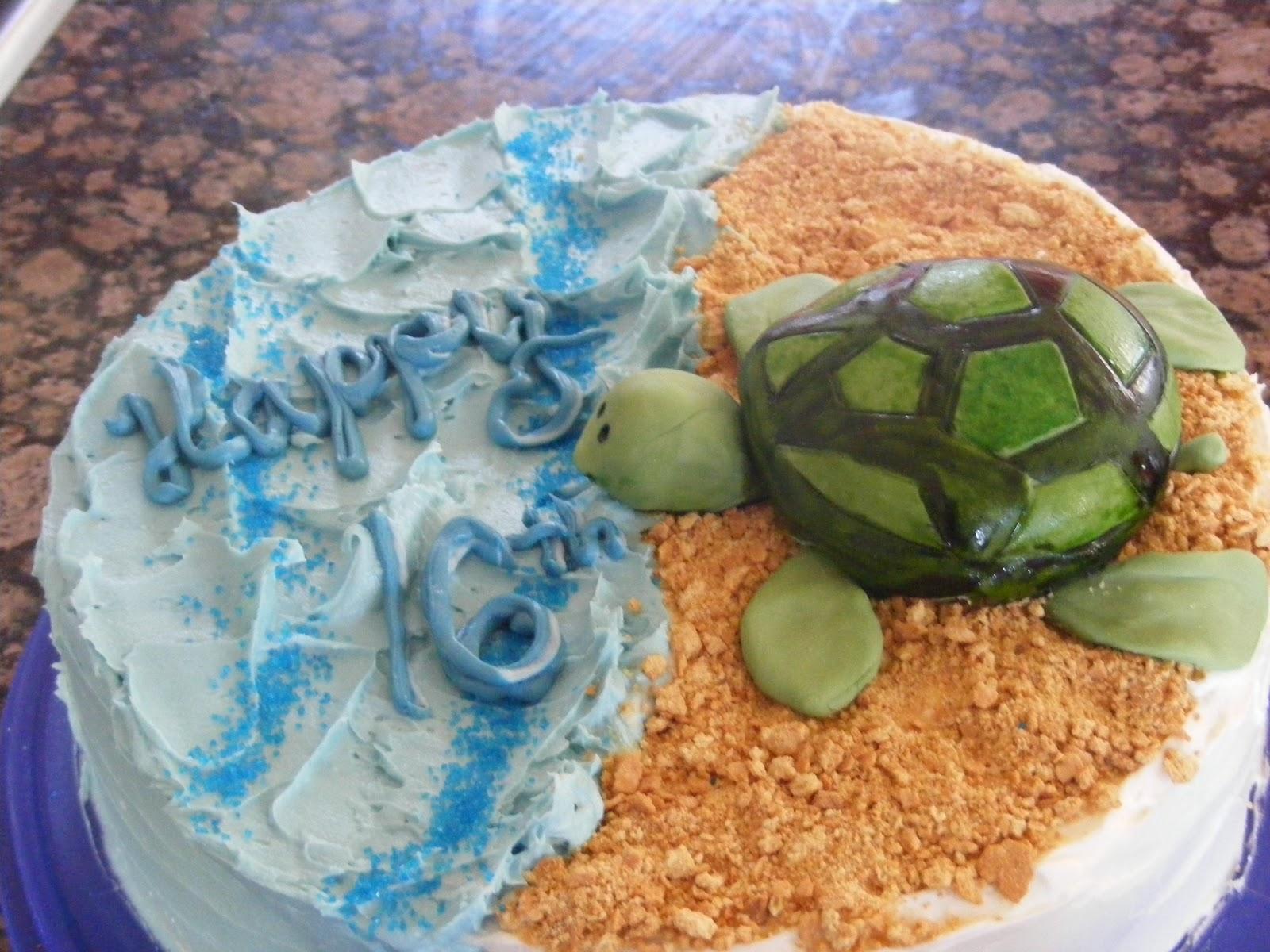 The Purple Door Kitchen Sea Turtle Cake