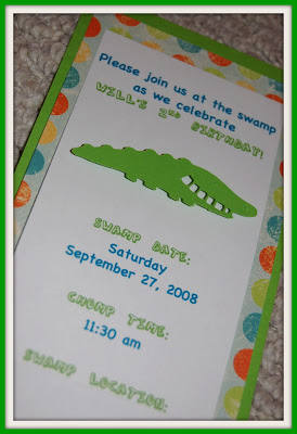 I Made The Invitations Using Quot Swamp Quot Wording
