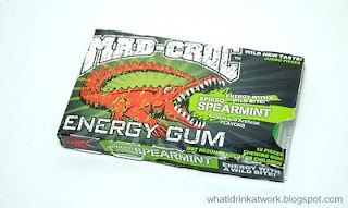 What I Drink At Work Mad Croc Spiked Spearmint Energy Gum