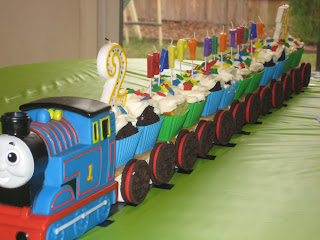A Britt Without Boys Cupcake Train