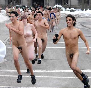 Nude college naked run berkeley streak