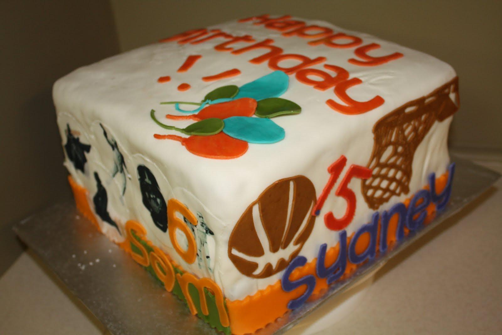 Two Sweet Bakery Fondant Multiple Birthdays Cake