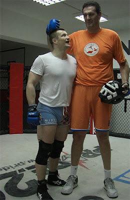 Cro Cop Spars With Basketball Star In Preparation For Choi