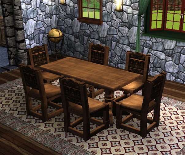 My Sims 3 Blog Medieval Dining Table And Chairs Sims 2