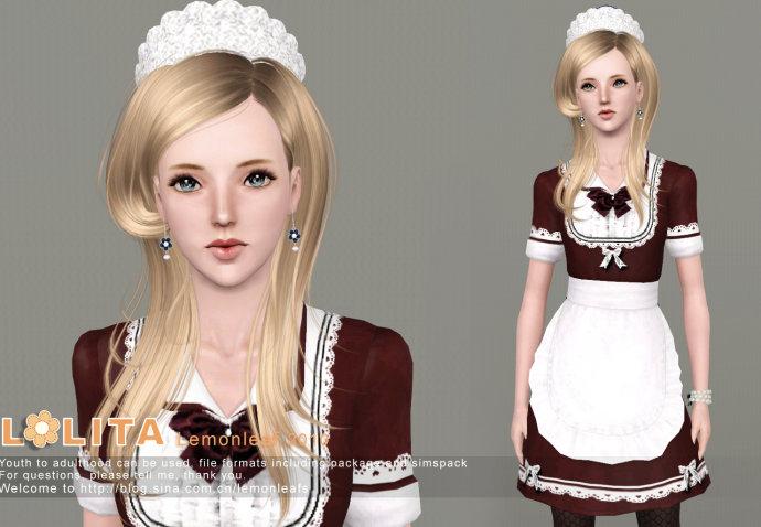 My Sims 3 Blog Lolita House Maid Dress By Lemon Leaf